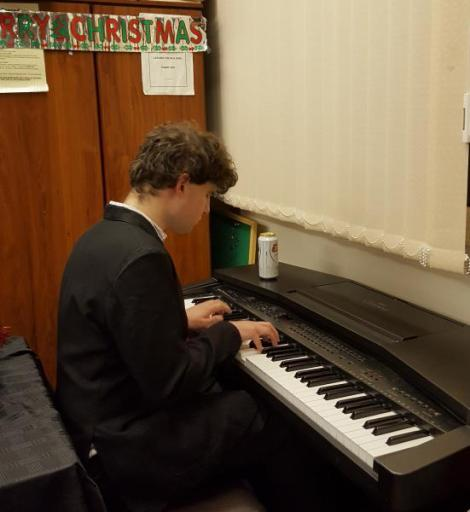 Matthew on piano