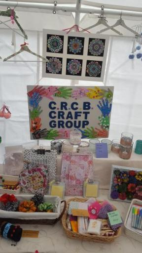 More hand made crafts on the Craft Group stall