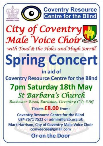 poster for male voice choir performance